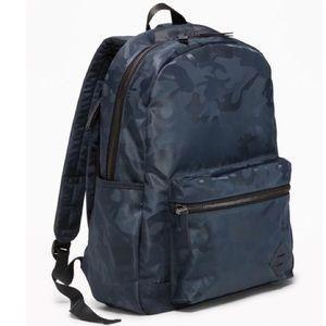 Old Navy Nylon Blue Camo Backpack